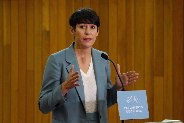 Debate Estado Autonomía - Gonzalo Caballero - PSG-PSOE E Ana Ponton BNG - declaracións -