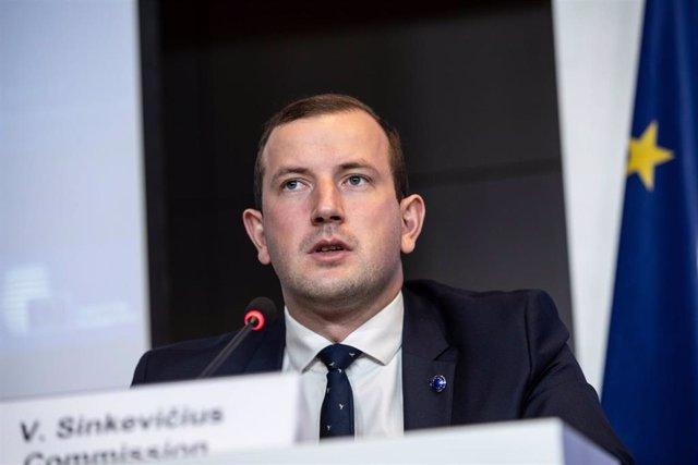 Archivo - El comisario de Medio Ambiente de la UE, Virginijus Sinkevicius