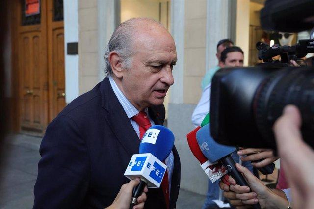 Archivo - El exministro de Interior  Jorge Fernández Díaz