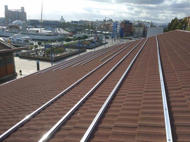 Panells fotovoltaics del Port de Tarragona