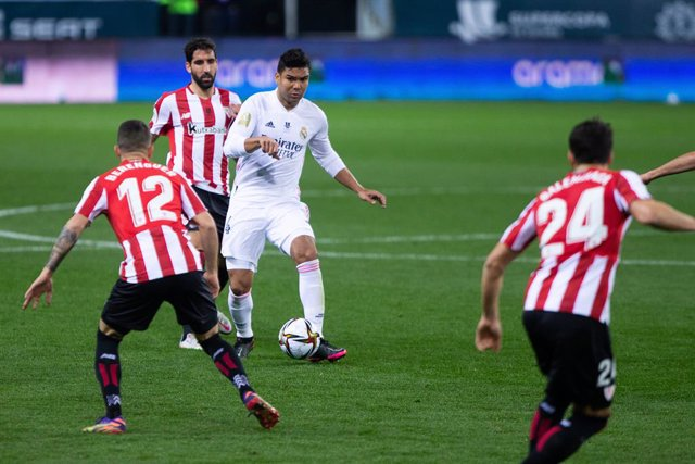Archivo - Carlos Henrique Casemiro of Real Madrid during the Spanish SuperCup Second Semifinal between Athletic Club Bilbao and Real Madrid Club de Futbol at La Rosaleda Stadium on January 14, 2021 in Malaga, Spain.