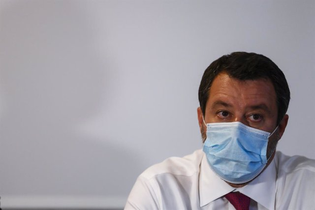 Archivo - 28 June 2021, Italy, Turin: Lega Nord leader Matteo Salvini attends a press conference to present the candidate for mayor of Turin, Paolo Damilano. Photo: Fabio Ferrari/LaPresse via ZUMA Press/dpa