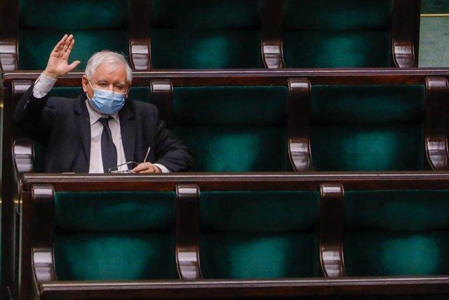 Archivo - Jaroslaw Kaczynski, líder del Partido Ley y Justicia de Polonia.