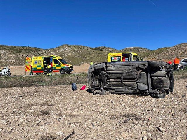 Muere un niño de 9 años y su madre está herida tras colisionar su coche contra otro en la M-225