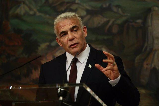 Archivo - El ministro de Exteriores de Israel, Yair Lapid
