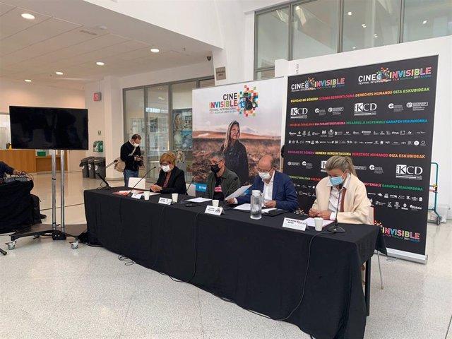 Presentación de la nueva edición del Festival de Cine Invisible de Bilbao.