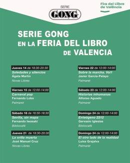 Ocho autores Serie Gong en la Feria del Libro de Valencia