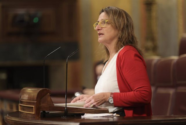La ministra de Transició Ecològica, Teresa Ribera, intervé en una sessió plenària al Congrés