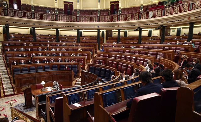 Archivo - Arxiu - Imatge de recurs de l'hemicicle del Congrés dels Diputats