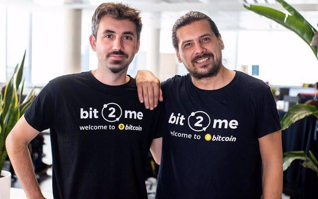 El consejero delegado de Bit2me, Leif Ferreira, y el nuevo consejero delegado de Bit2me Capital, Bogdan Stirbu.