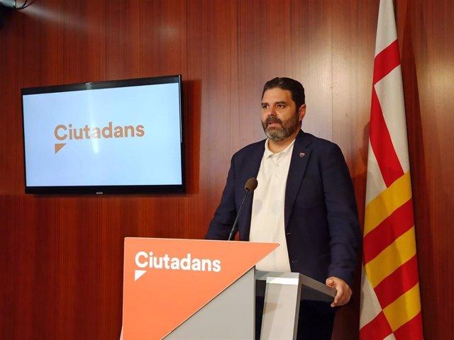 Archivo - Arxiu - El portaveu de Cs a l'Ajuntament de Barcelona, Paco Sierra
