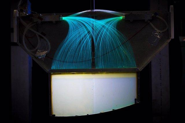 """El detector de neutrones ultrafríos de alta eficiencia utilizado en la trampa de la """"bañera""""."""
