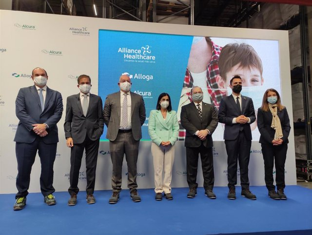 Imagen de la inauguración de la nueva sede de Alliance Healthcare en Viladecans (Barcelona)