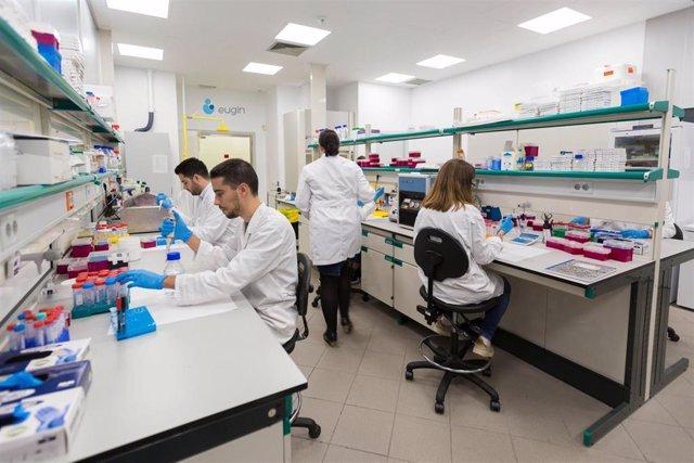 Archivo - Laboratorio de investigación básica de Eugin en el Parc Científic de Barcelona