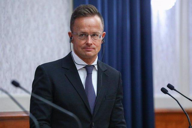Archivo - El ministro de Exteriores húngaro, Peter Szijjarto.