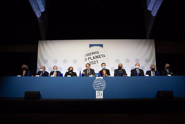 Roda de premsa prèvia al lliurament del Premi Planeta 2021