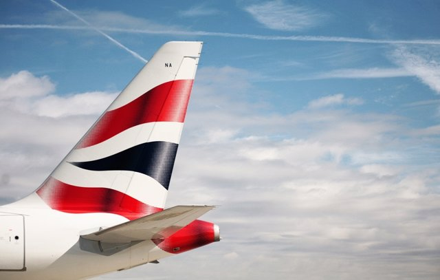Archivo - Ala de British Airways