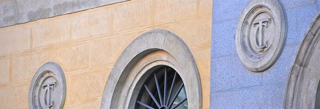 Archivo - Arxiu - Detall de la façana de la seu del Tribunal de Comptes