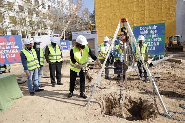 Obres dels habitatges públics de lloguer al districte de Sant Martí