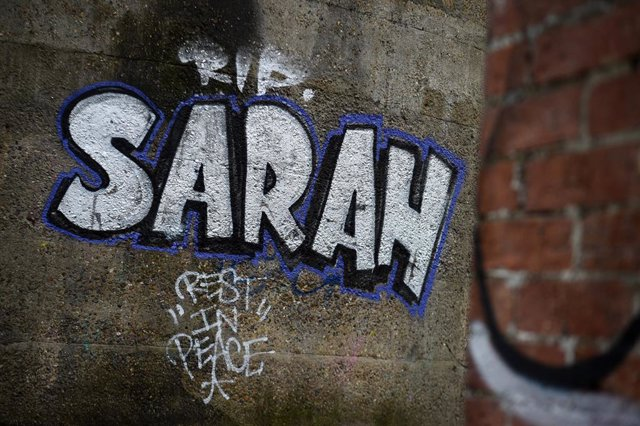 Archivo - 17 March 2021, United Kingdom, Clapham: Graffiti on an air-raid shelter near Clapham Common, for the 33-year-old Sarah Everard. Photo: Kirsty O'connor/PA Wire/dpa