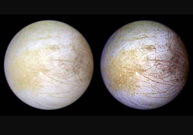 Hemisferios de la luna Europa