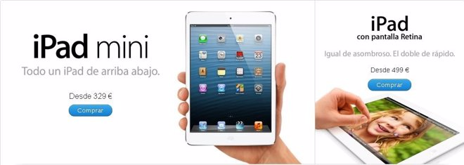 El iPad mini y el iPad de cuarta generación ya están a la venta