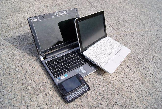 Netbook, smartbook y smartphone